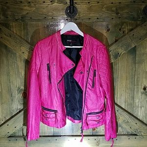 Miss Sixty Funky Faux Leather Bomber Jacker